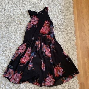 Black and pink blue flowers free ppl dress size 2